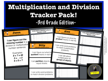 Multiplication and Division Tracker Pack!