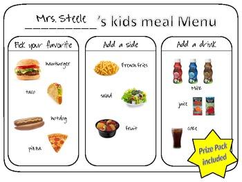 Kids Meal Menu