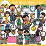 Kids Measuring Time Math Clip Art