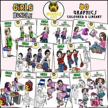 Girls Clipart - Blonde 2