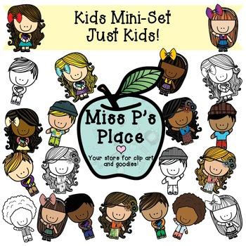 Kids Mini Clip Art Set: Just Kids! [Miss P's Place]