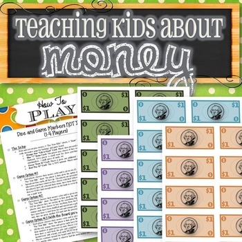 Kids Money Game (Simplified Game of Life) - INSTANT DOWNLOAD