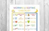 Kids Morning/Bedtime Checklist Printable | Chore Chart | Kid Routine Chart