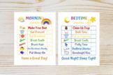 Kids Morning/Bedtime Checklist Printable | Chore Chart | Kid Routine Chart | Kid
