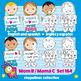 Kids & Mother's day Clipart Bundle Color & Black/White Día de las Madres Set 164