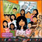 Kids Multiplication Motivation CD/DVD Combo