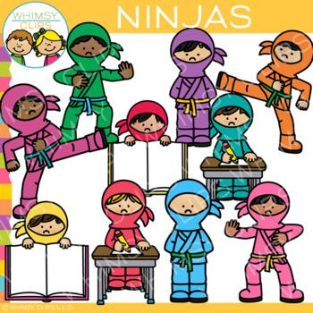 Kids Ninja Clip Art