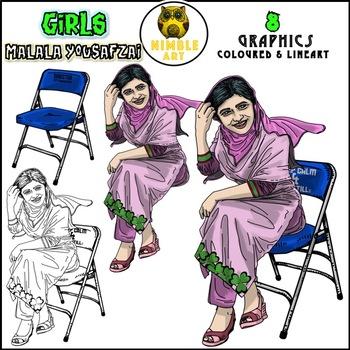 Girls Clipart - Malala Yousafzai