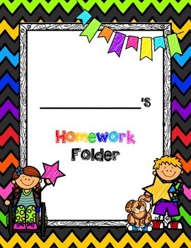 Kids Notebook & Folder Subject Cover Pages
