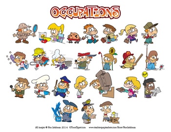 Kids Occupations Cartoon Clipart