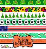 Kids Page Borders Clip Art Mega Pack