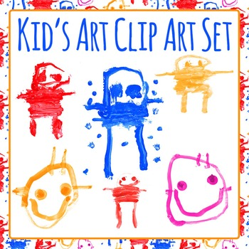 Kids Painting Art - Genuine Child's Painting - Clip Art for Commercial Use