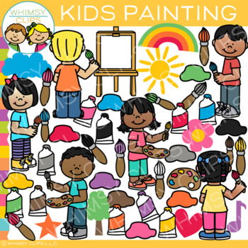Kids Painting Clip Art