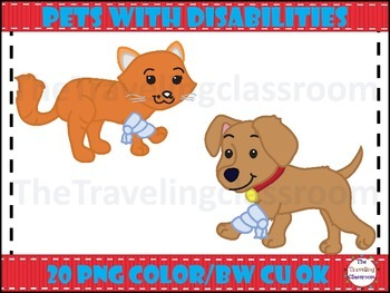 Kids & Pets With Disabilities Clip Art