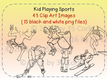 Kids Playing Sports Clip Art (Editable Bobblehead Version!)