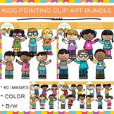 Kids Pointing Clip Art Bundle