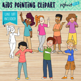 Secondary School Teens Pointing Clipart / Middle or High S