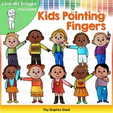 Kids Pointing Fingers