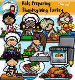 Kids Preparing Thanksgiving Turkey