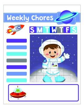 Kids Printable Chore Chart Responsibility Chart
