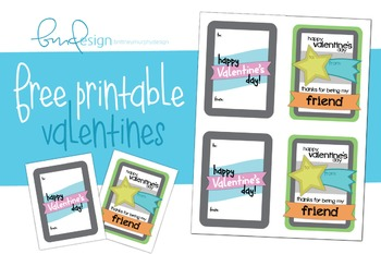 Kids' Printable Valentines- Free Edition