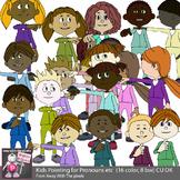 Kids Pronoun Clip Art for Beginner Grammar and ESL Resources - Grammar Clipart