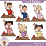 Kids Raising Hands Clip Art