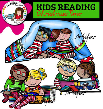Kids Reading -Christmas time