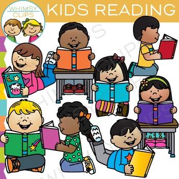 Kids Reading Clip Art