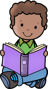 Kids Reading 2 Clip Art
