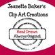 Kids Reading Clip Art by Jeanette Baker