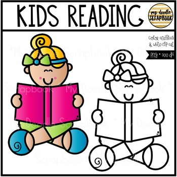 Kids Reading (Clip Art for Personal & Commercial Use)