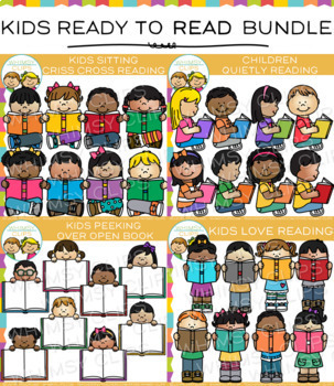 Reading strategies clip art resources lesson plans teachers pay kids ready for reading clip art bundle voltagebd Image collections