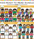 Kids Ready for Reading Clip Art Bundle