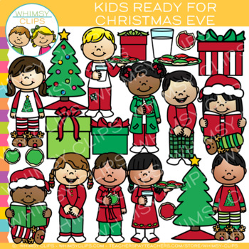Kids Ready For Christmas Eve Clip Art
