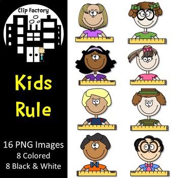 Kids Rule Clip Art
