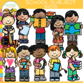 Kids School Subjects Clip Art