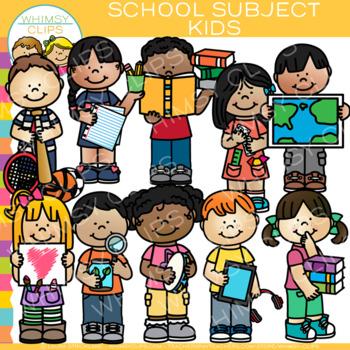 Kids School Subjects Clip Art