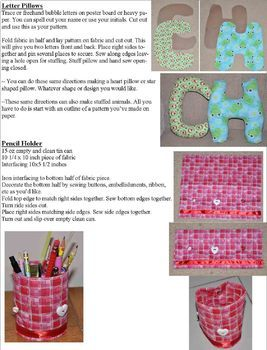 Kids Sewing Unit - Sewing for the Home