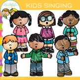 Kids Singing Clip Art
