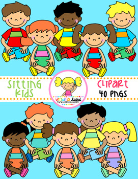 Kids Sitting Clipart