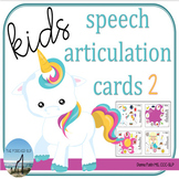 Speech Articulation Cards for Kids - Set 2 - NO PRINT or PRINT