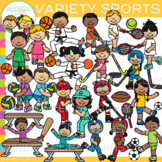 Kids Sports Clip Art {Whimsy Clips Kids In Action Clip Art}