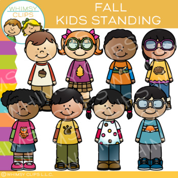 Kids Standing Fall Clip Art