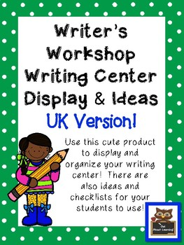 Kids & Star Themed Writing Workshop and Center Display and Ideas (UK Version)