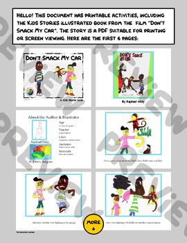 "Kids Stories - ""Don't Smack My Car"" - Book & Activities"