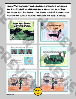 """Kids Stories - """"How The Skunk Got Its Smell"""" - Book & Activities"""