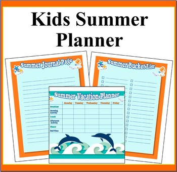 Kids Summer Journal Pages