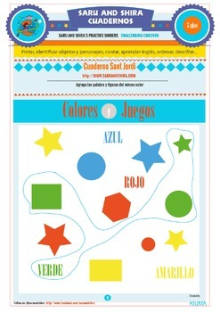 Kids Summer Notebook Activities 3 Years in Spanish