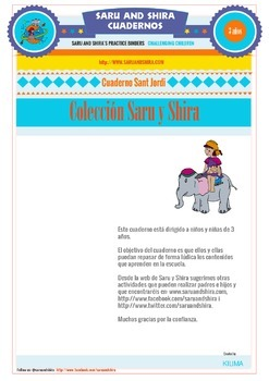 Kids Summer Notebook Activities 3 Years in Spanish
